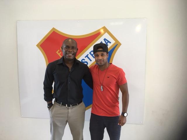 Dyjan Carlos de Azevedo et son agent & Daniel Chrysostome