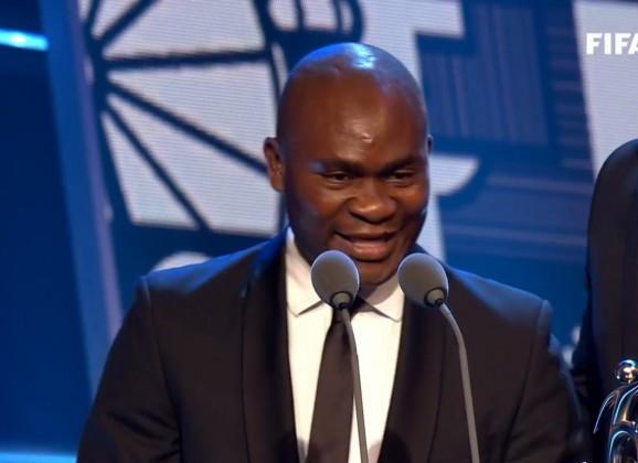 Daniel CHRYSOSTOME à la cérémonie FIFA Awards – Représentation du joueur KONE Francis